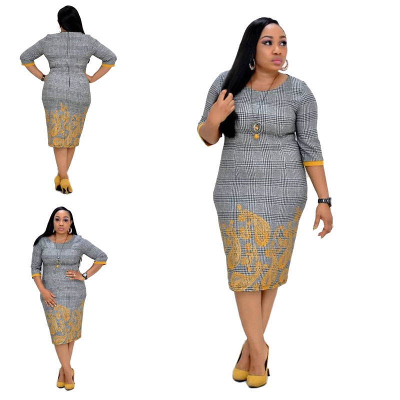 90428-MX55 fashion urban clothing 4xl plus size women dresses фото