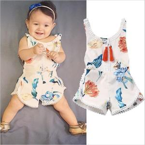S65993A New Cute Baby Girls rompers Infant Kids Summer Sleeveless Romper