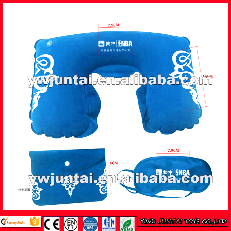High quality cheap custom logo inflatable travel pillow/inflatable travel neck pillow/inflatable travel sleep pillow