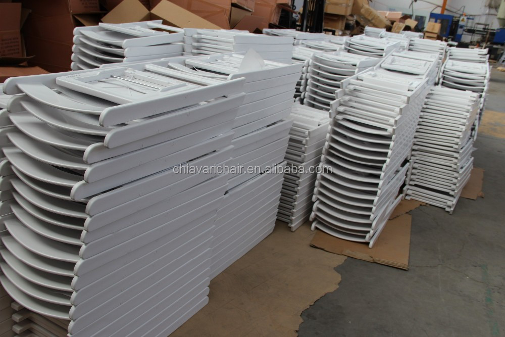 Wholesale Cheaper White Resin Folding Fhairs for Party Rental