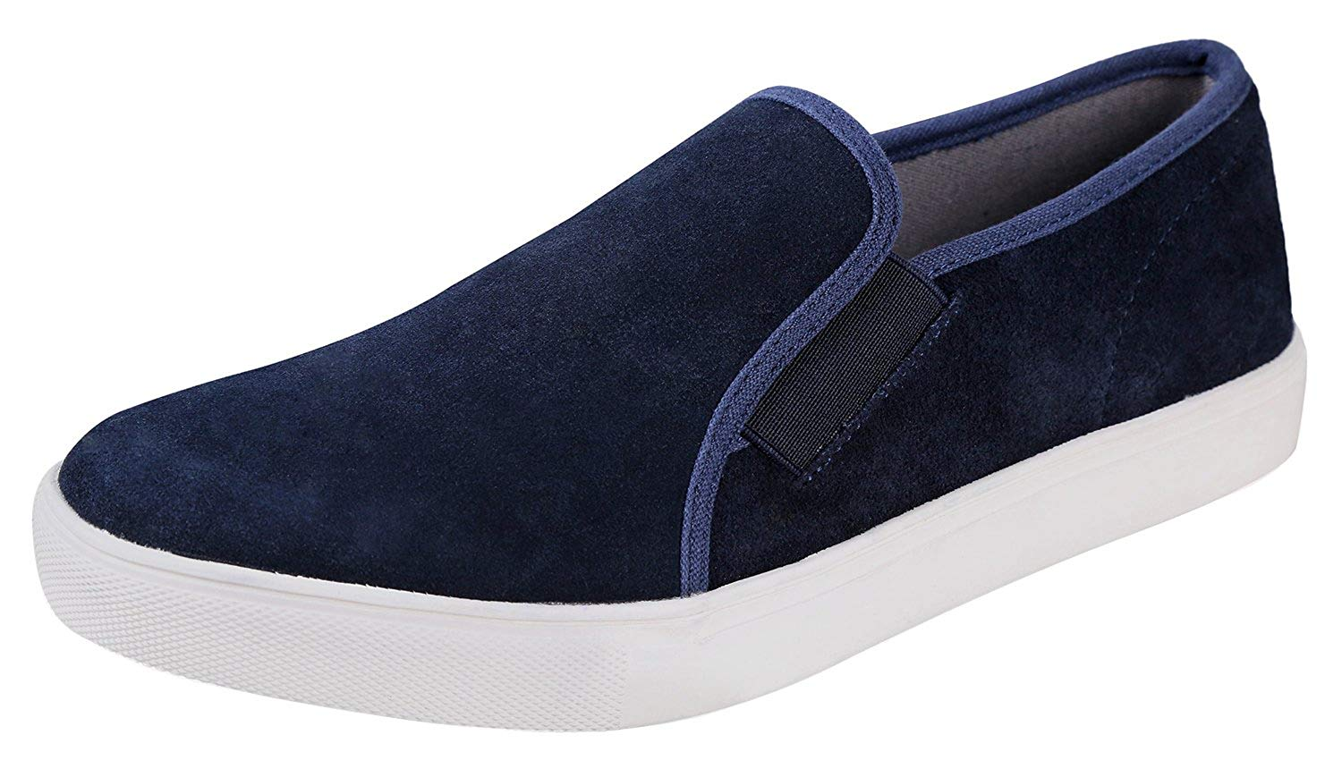 Urban Fox Men's Francis Suede Slip-On Fashion Sneakers | Mens Slip On Shoes | Mens Sneakers | Suede Shoes