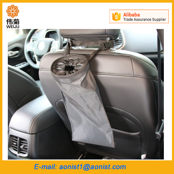 travel car back seat garbage trash bag holder , Vehicle garbage bags for car