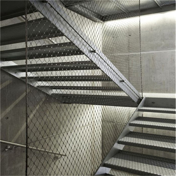Flexible stainless steel inox cable net for stairs railing