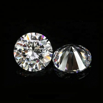 Wuzhou gemstone wholesale Round brilliant cut cz stones AAAAA cubic zirconia