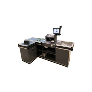 Automatic cashier counter retail store checkout counter with conveyor belt