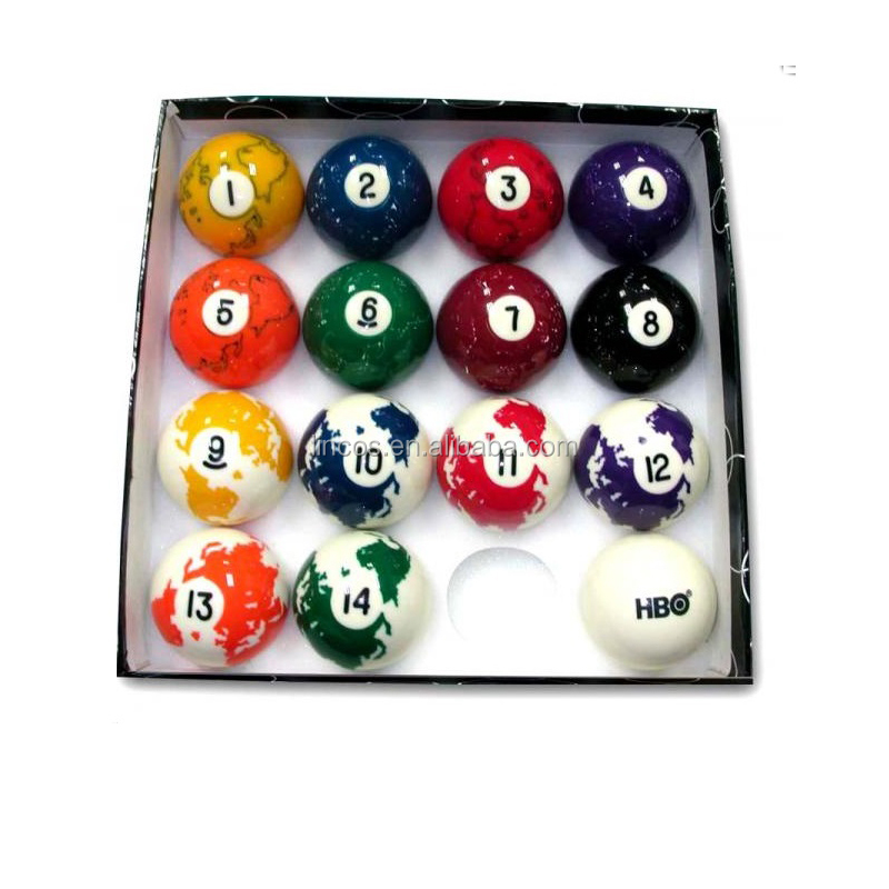 What are billiard balls made of