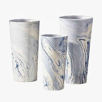 Modern big wedding decoration ceramic marble flower vase / home goods decorating porcelain vases