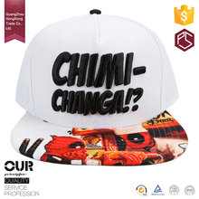 China HongXiong high quality design your own logo cotton/polyester embroidery mens Customized Snapback Hats bulk Wholesale