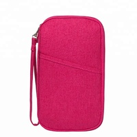 wholesale waterproof portable polyester travel passport holder wallet for men and women
