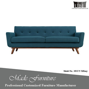 Hand-Made Deep Blue Restaurant Hotel Sofa Couches For Living Room Furniture