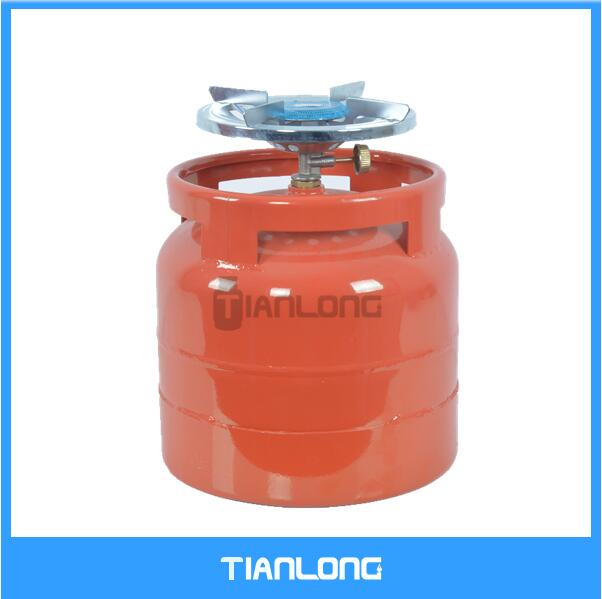 6kg gas cylinder with camping burner for South Africa