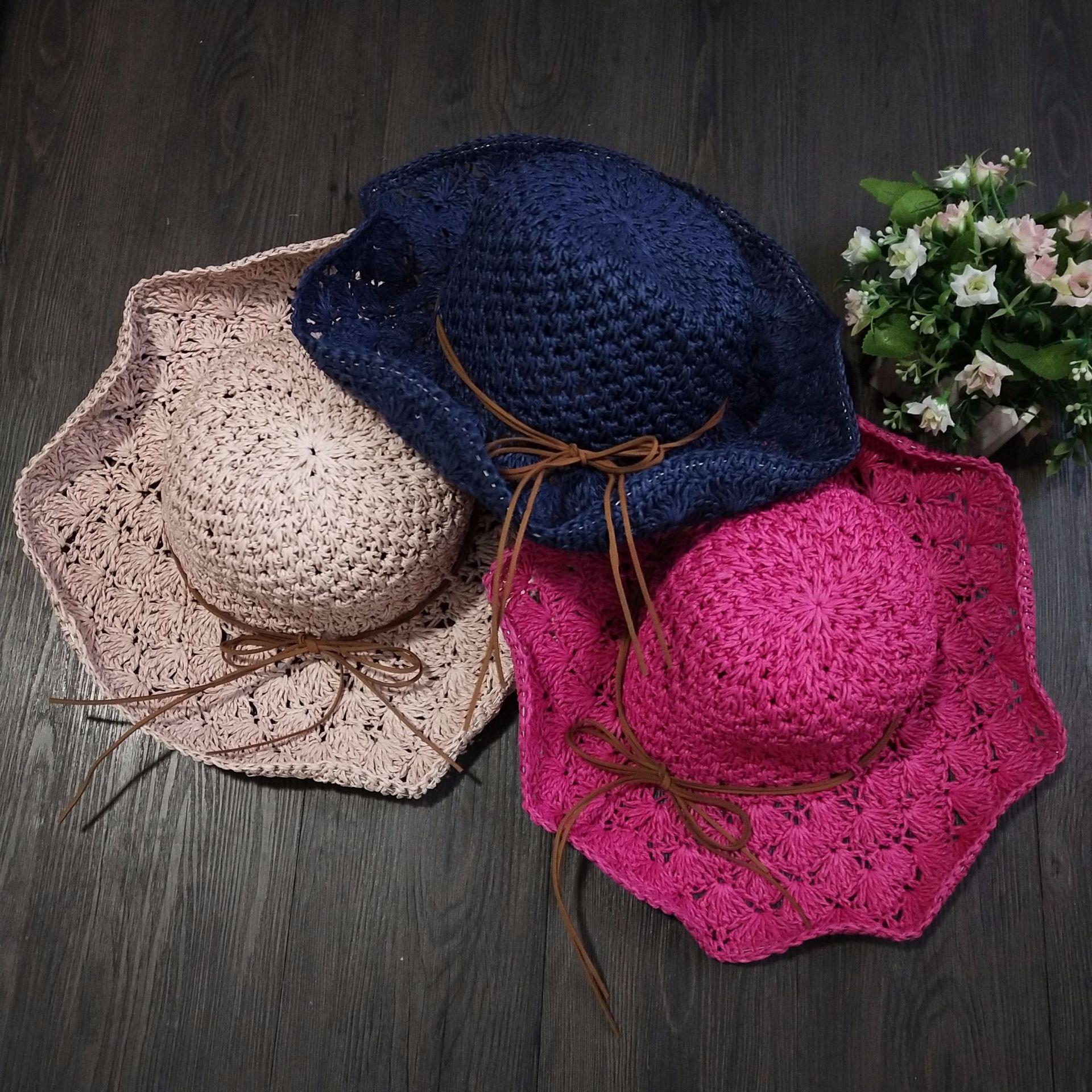 оптовая продажа вязаные летние шляпы крючком купить лучшие вязаные