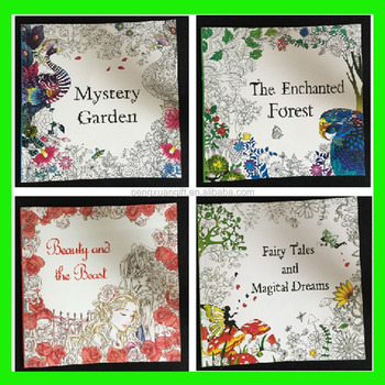 2017 China Factory Manufacture Secret Garden Adult Coloring Book Custom Adults Drawing Printing