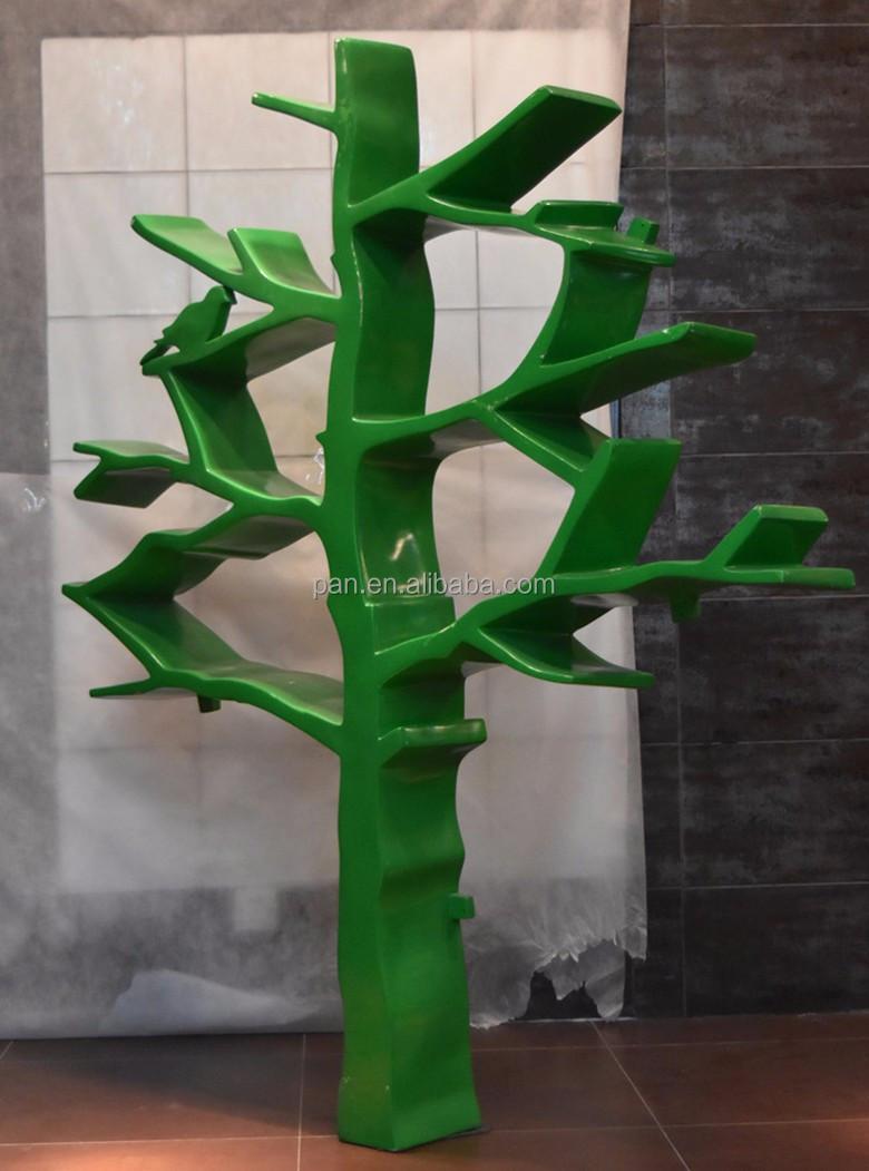 Baum form Design Fiberglas Wohnzimmer Bücherregal  ~ Bücherregal Baum