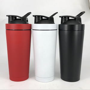 2018 Hot Sale 17OZ 25OZ Stainless Steel Double Wall Thermal InsulationProtein Shaker Bottle On Whey Protein Fitness Gym Bottle