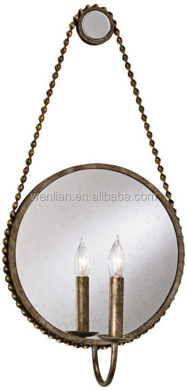 artistique industrielle miroir applique murale vintage mur de fer forg applique pour la maison salle - Appliques Vintage Industrielles Pour Salle De Bain