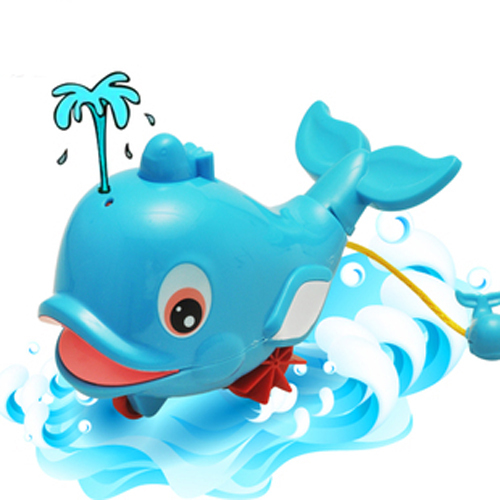 Blue Children Bath toys Squirt Beach toys Dolphin Water Spray Pull toys Dynamic Kid toys Littlest Pet shop Gadgets