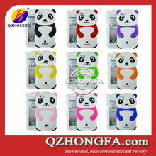 panda phone case for iphone 4 4s panda design silicone phone case HF-AS09