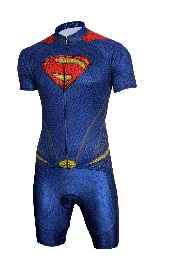 b0e266228 Get Quotations · ropa ciclismo 2014 new men or women Hero Superman cycling  Jersey and bike bib shorts cyclilng