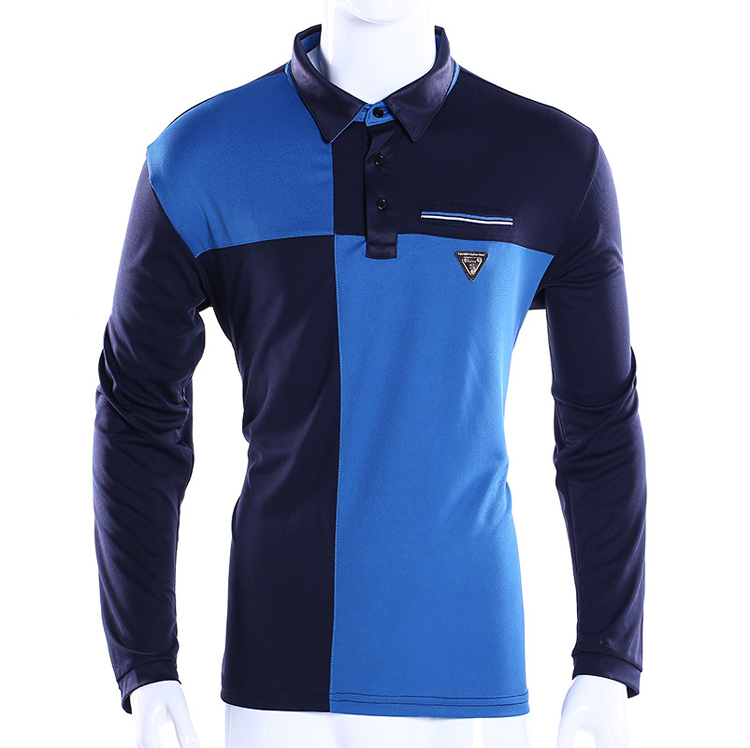 Color combination breathable running polo shirt sports wear costumes