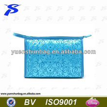 2016 fashionable blue special designer Nylon travel clear cosmetic bag set