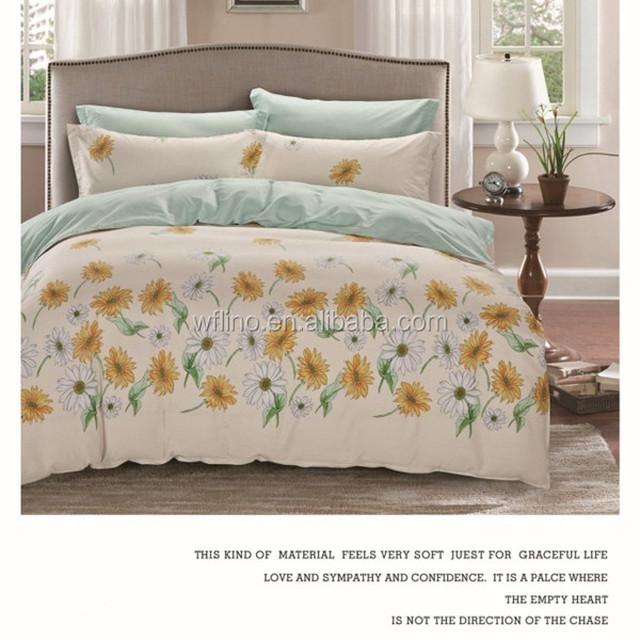 Custom Design 100% Cotton Bedding Set Jersey Cotton Bed Sheets