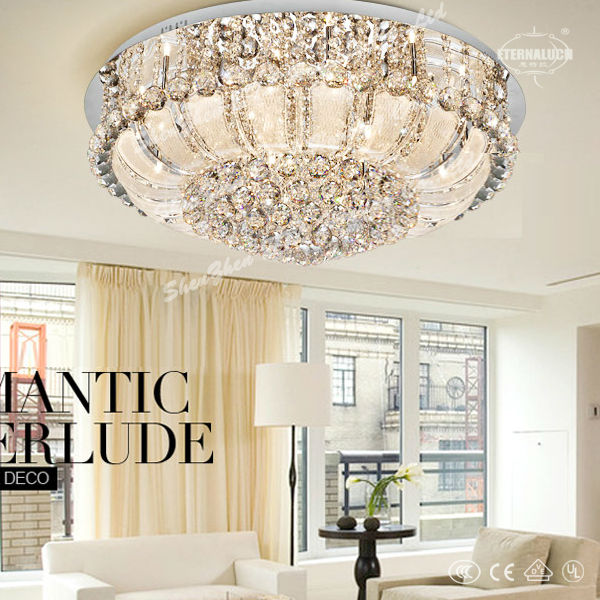 El hogar 2014 corona forma moderna de cristal l mparas de - Lamparas de techo habitacion ...