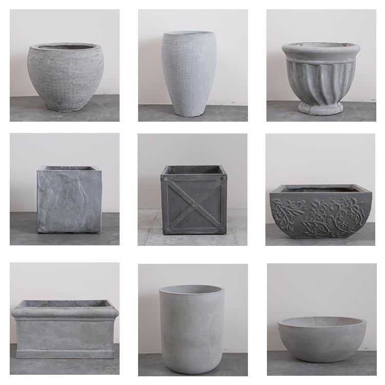 Campione gratuito giardino fioriera diversi forma di pietra vaso di fiori