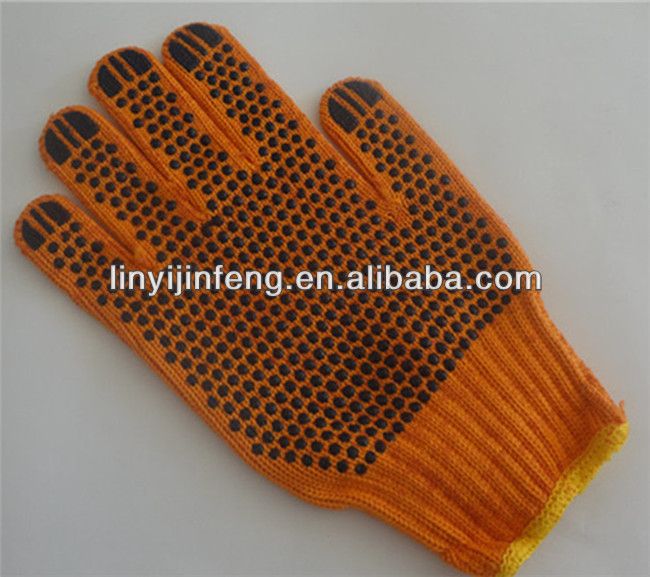 protective equipment pvc dotted warm winter working gloves cotton knitted warm work gloves