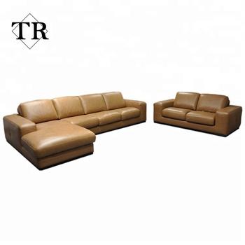Modern Luxury Full Grain Leather Living Room Sofa Set Buy Full