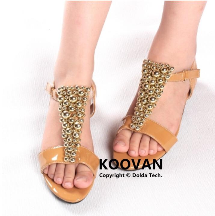 Лето низкая пятки обувь сандалии девочки довольно девочка принцесса жемчуг дети в сандалии дети обувь KL709