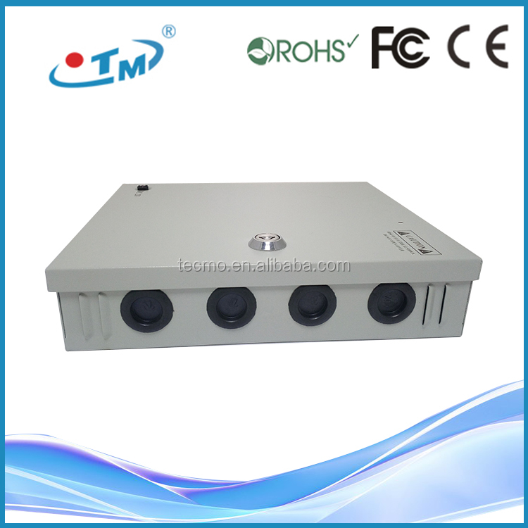 9 Channel 18 Channel CCTV driver led high bay PTC Fuse CCTV UPS Power Supply Box