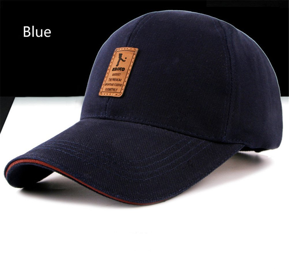 Surborder Shop Blank Adjustable Plain Snapback Hats Caps Blue