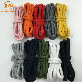 Candy Colored Cotton Macrame Piping Cord For Hoodies