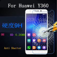 Front High Quality Scratch Resist Soft Tempered Glass Screen Protector for HUAWEI Y360 Free Shipping