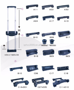 China supplier telescopic luggage handle replacement parts