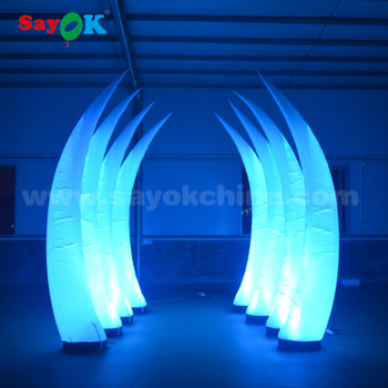 Beautiful design top selling attractive party decoration inflatable led tusk