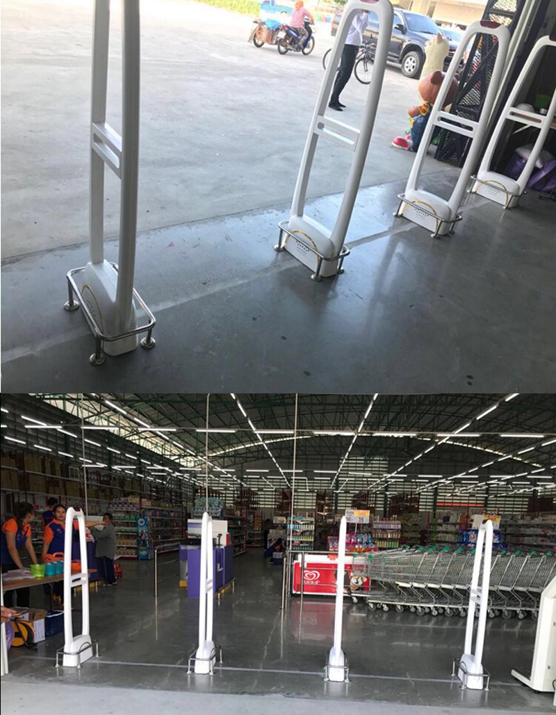 supermercado segurança guarda com som e luz