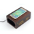 multiple function wood portable qi wireless charger speaker