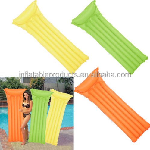 Swimming Pool Beach Inflatable Lounger Float Floating Row Air Mattress Single