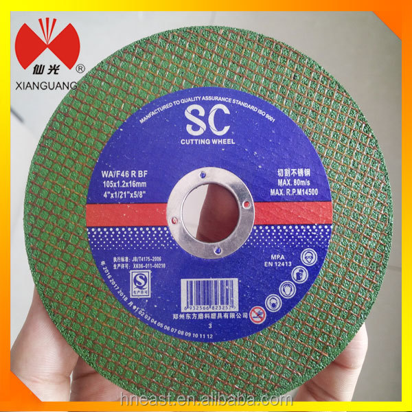 4 inch Yuri quality cut off wheel/metal cutting disc/disk
