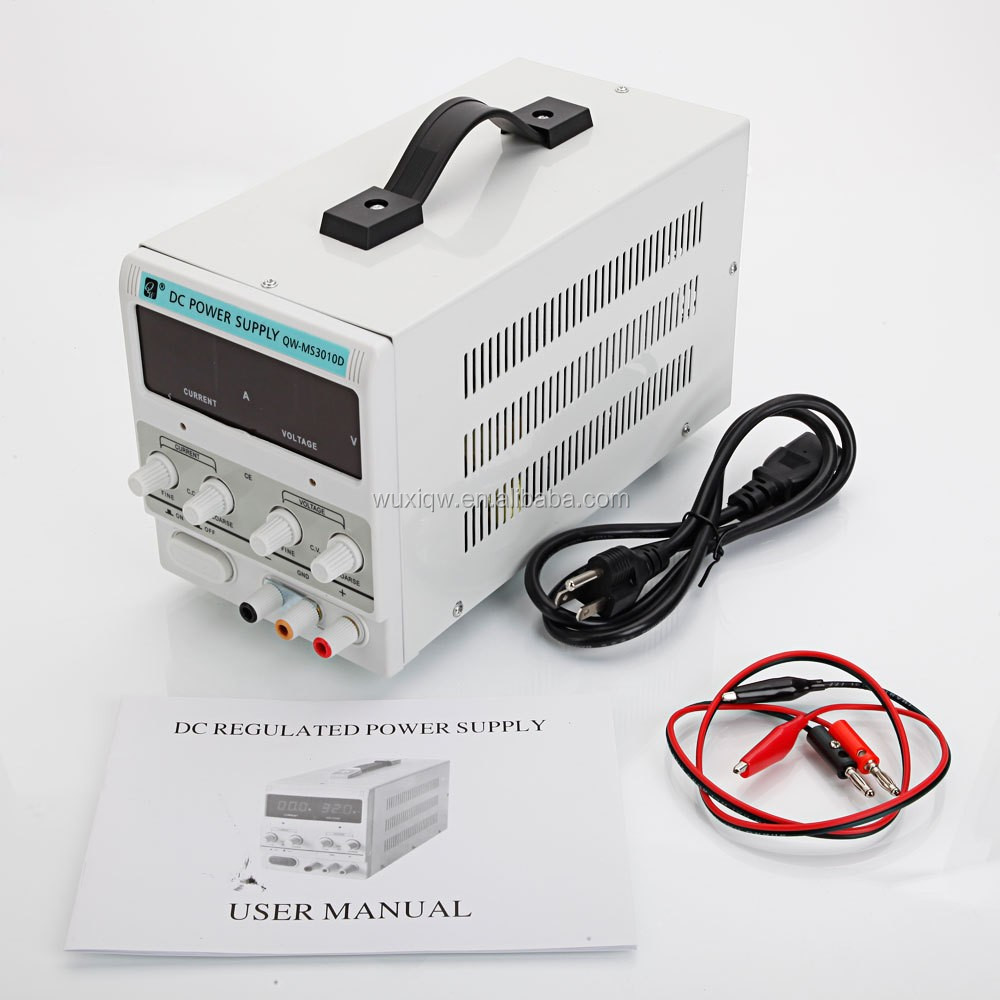 variable adjustable switch mode DC power supply 30V 10A with CE approved for lab testing