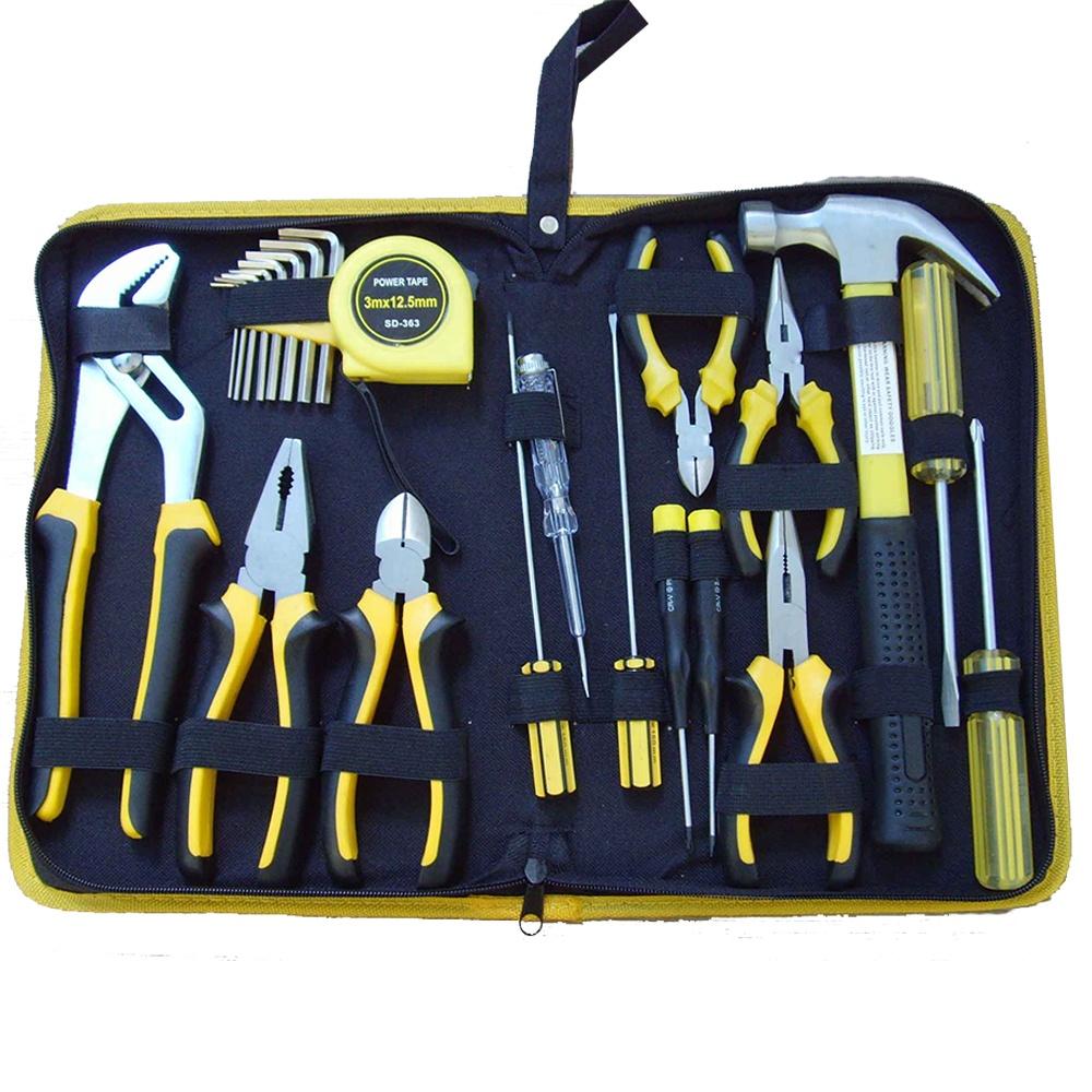 24pcs กระเป๋าเครื่องมือชุดเครื่องมือ Herramientas De Mano Combo Kit