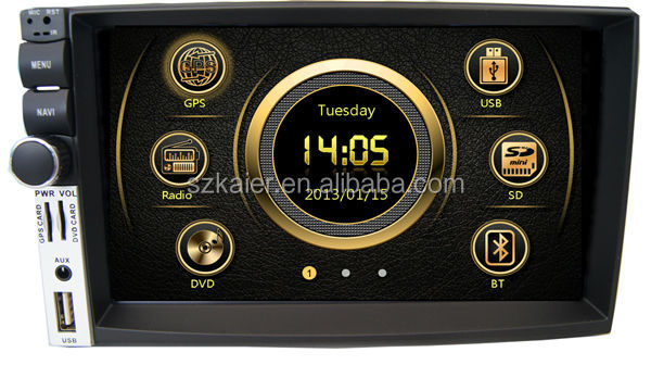 Deckless New design dual zone wince universal car central multimedia with GPS/Bluetooth/Radio/SWC/Virtual 6CD/3G /ATV/iPod