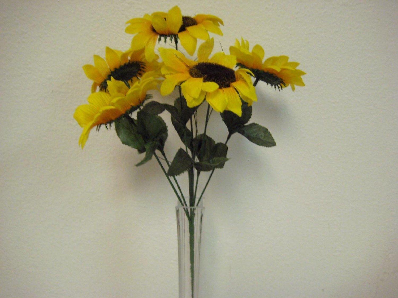 Cheap silk sunflowers bulk find silk sunflowers bulk deals on line get quotations 2 bushes yellow sunflowers artificial silk flower 15 bouquet 6 1926 izmirmasajfo