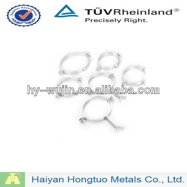 Aluminium hinged round pipe clamp