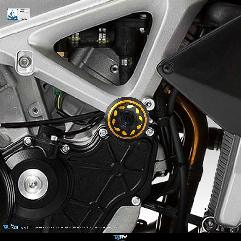 TWM Quick Action CNC Billet Fuel Gas Cap with Gold Handle Fits Aprilia RSV4 TUONO V4 RSV 1000 FACTORY R APRC