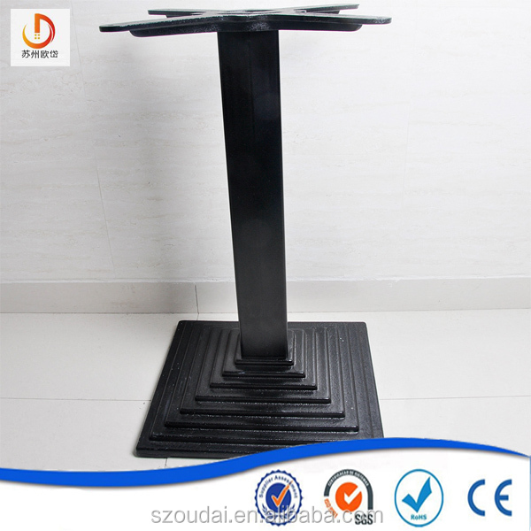 2017 high quality China factory manufacturer Black Metal Square bottom cast iron Table Base
