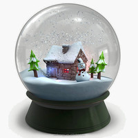 wholesale custom cheap winter theme snowman snow dome for sale