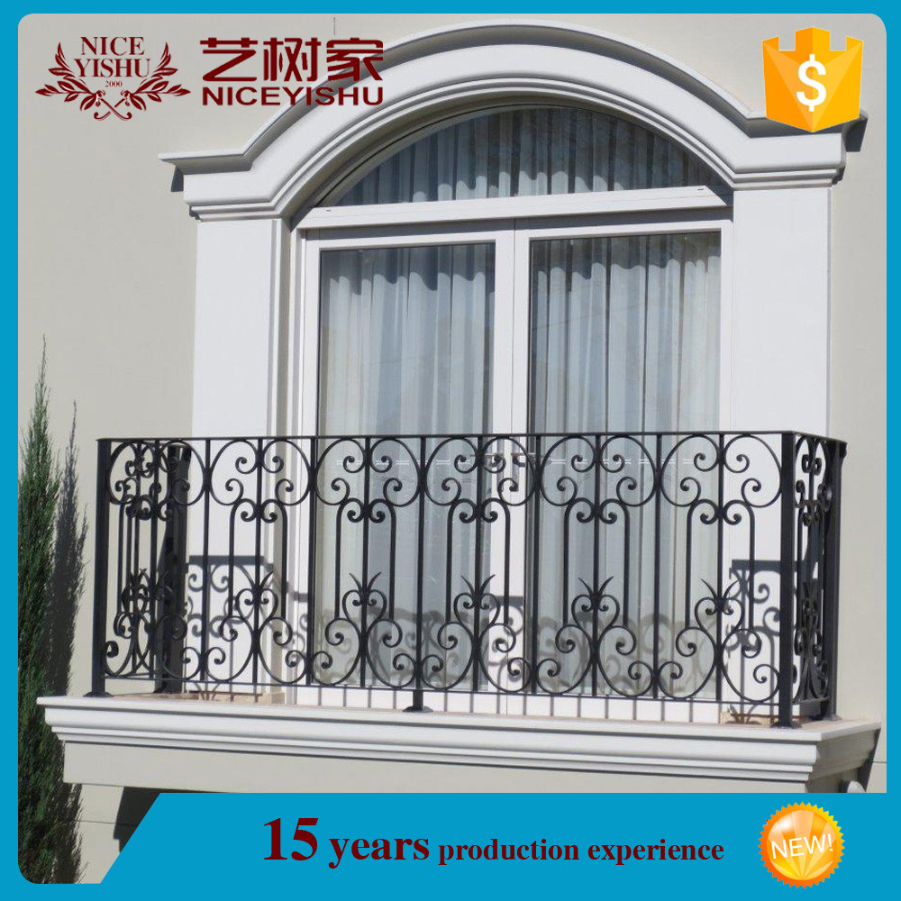 Used wrought iron balcony railing for sale iron grill for Uses of balcony